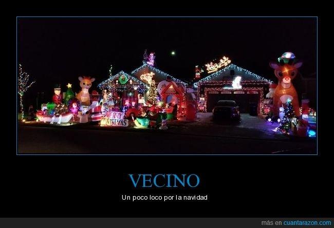 casa,decoración,loco,navidad,vecino