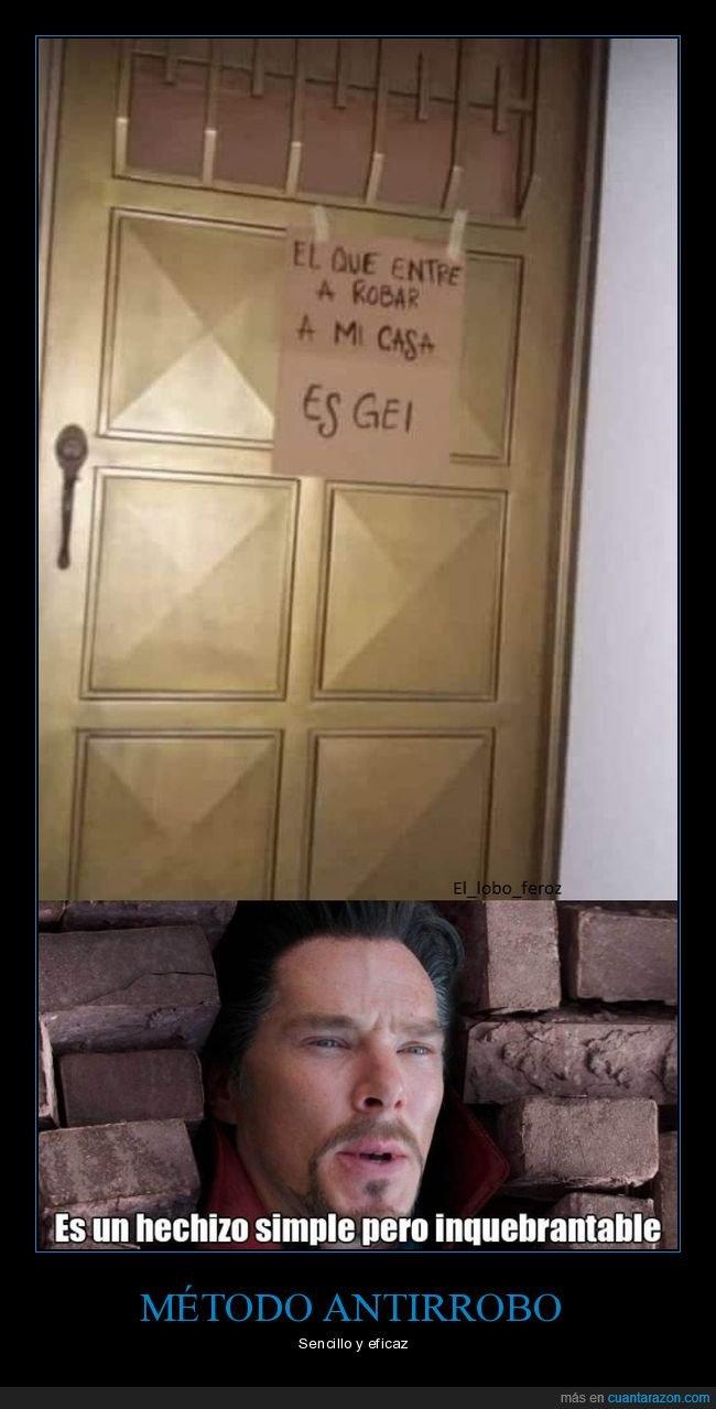 cartel,casa,entrar,gay,hechizo,inquebrantable,robar