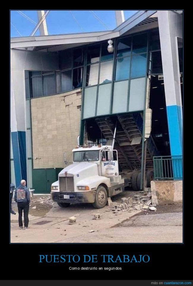 camión,destrucción,fails,wtf