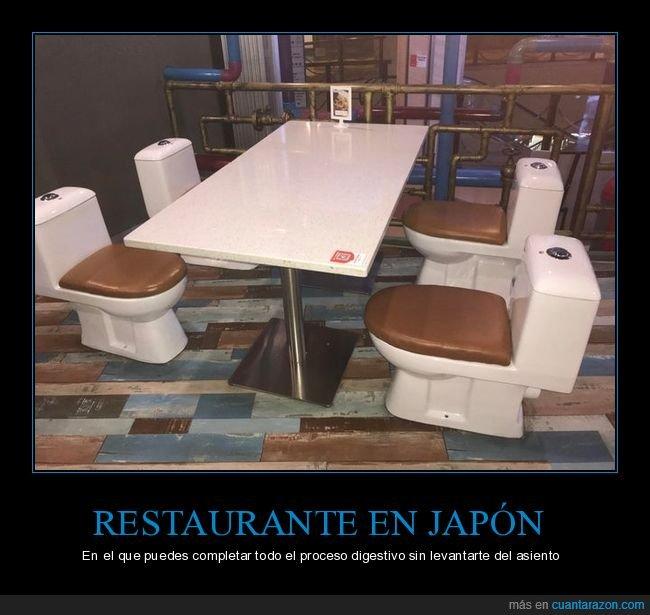 asientos,restaurante,váter