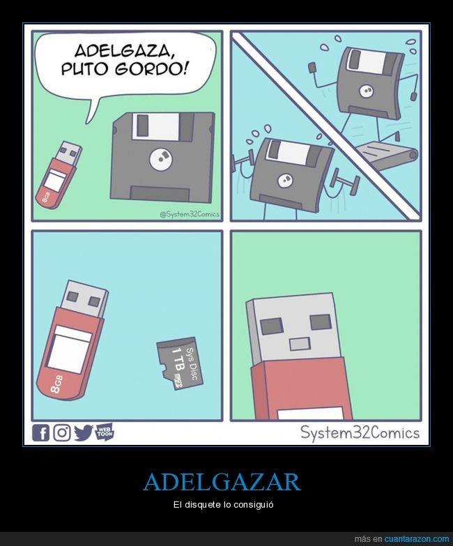 adelgazar,disquete,tarjeta de memoria,usb