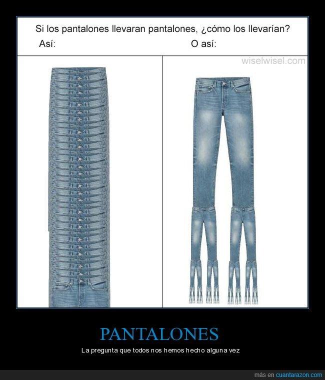 absurdo,llevar,pantalones