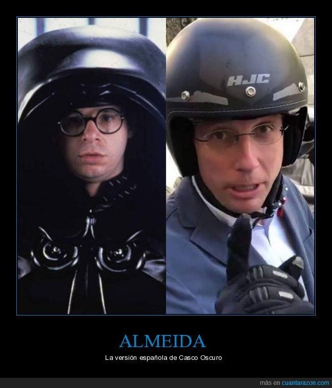 almeida,casco oscuro,parecidos,políticos