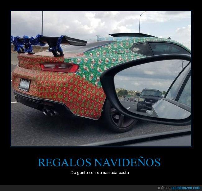coche,navidad,papel de regalo,wtf