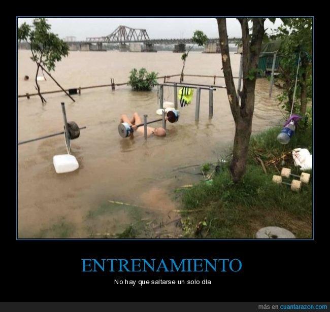 entrenando,inundación,wtf