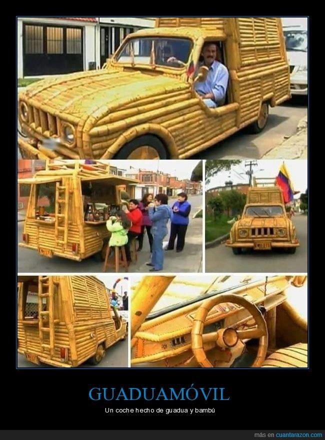 bambú,coche,guadua
