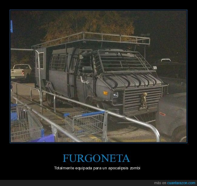 apocalipsis zombie,furgoneta