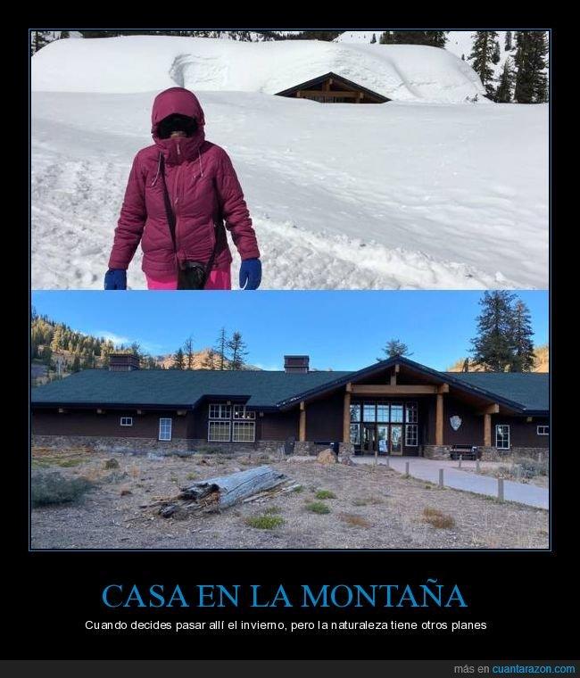 casa,montaña,nieve