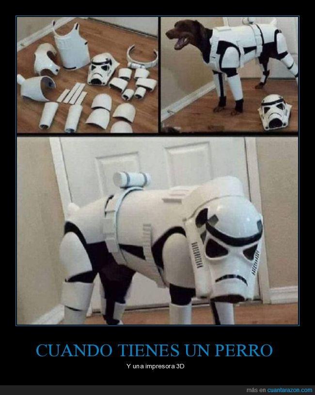 impresora 3d,perro,star wars,stormtrooper
