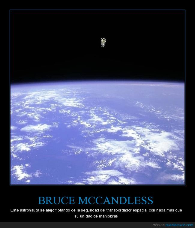 astronauta,bruce mccandless,transbordador espacial