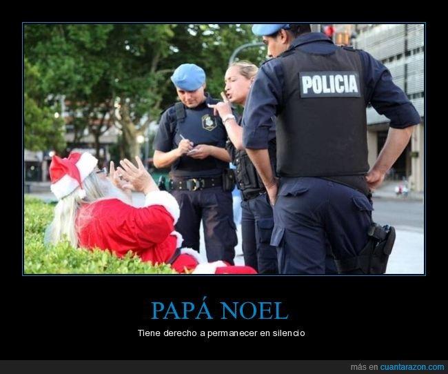 papá noel,policía