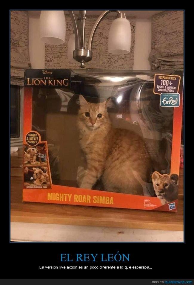 el rey león,gato,juguete,realista