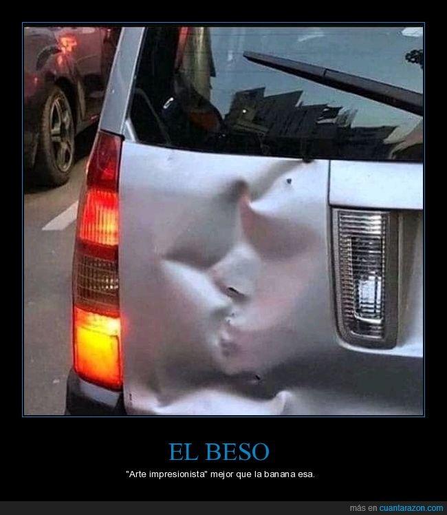 arte,beso,choque,coche
