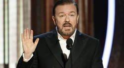 Enlace a A Hollywood no le gustó nada que Ricky Gervais se burlara en su monólogo de los Globos de Oro