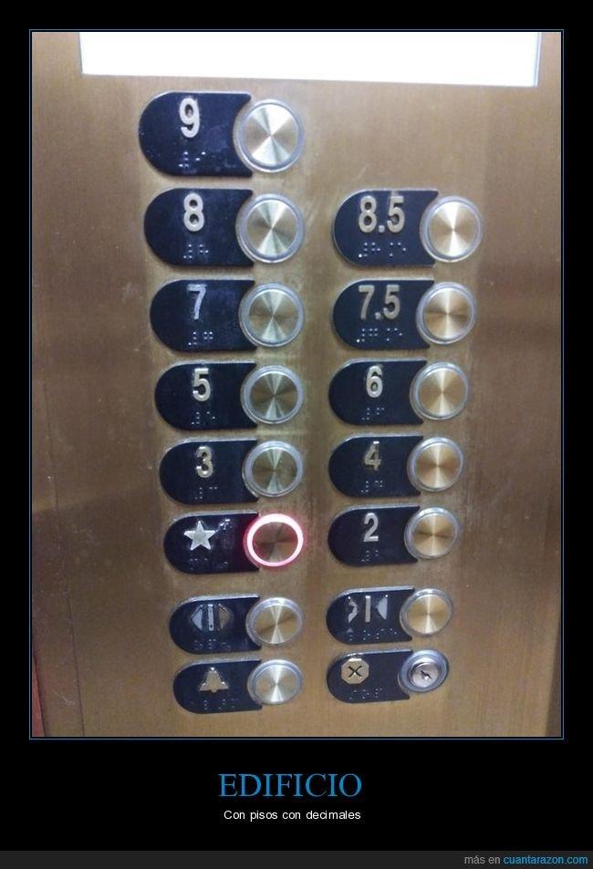 ascensor,decimales,edificio,pisos
