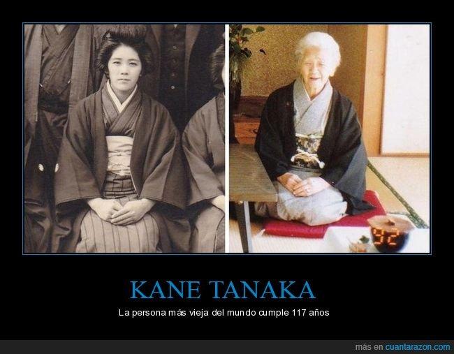 117 años,edad,kane tanaka,vieja