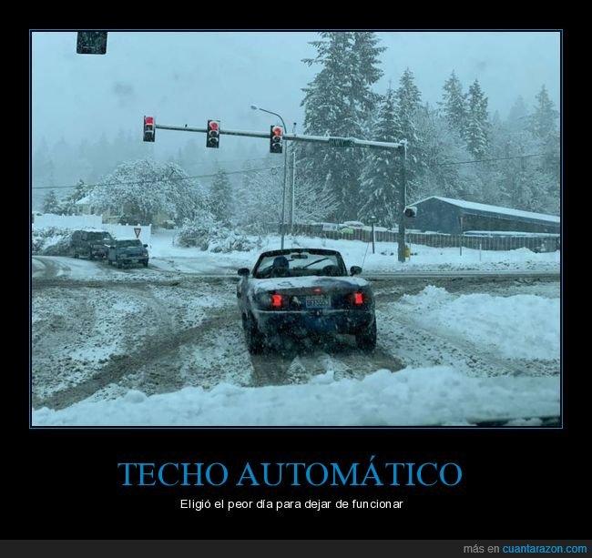 coche,fails,frío,nieve,techo