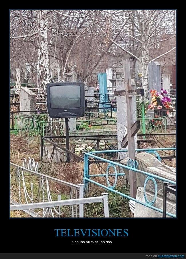 cementerio,televisión,tumba