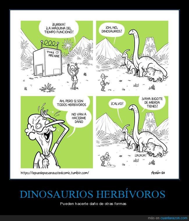 dinosaurios,hacer daño,herbívoros,máquina del tiempo