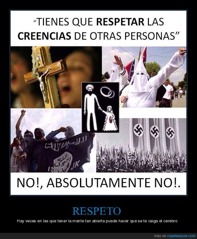 creencias,respeto