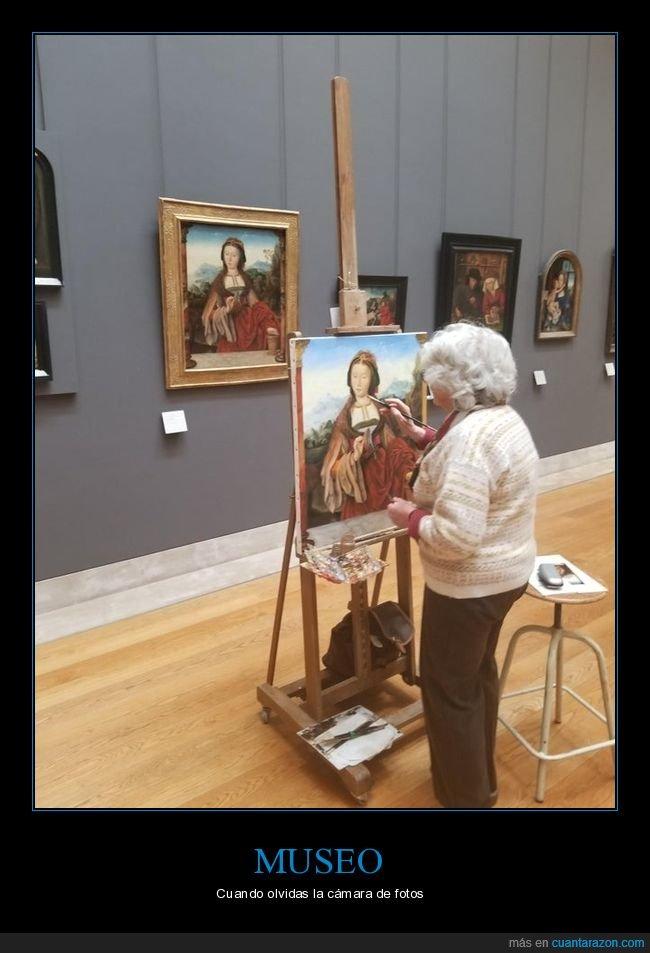 cuadro,museo,pintando