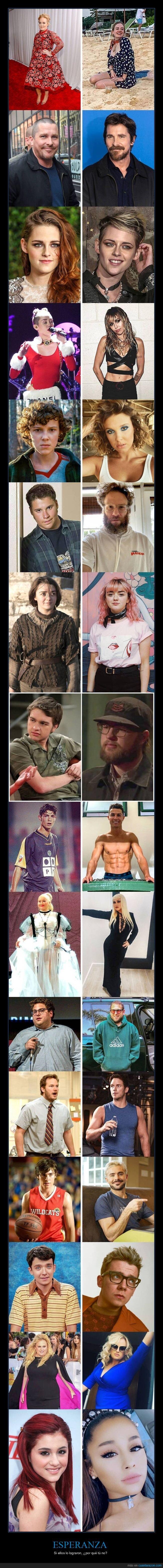 años,cambio,famosos