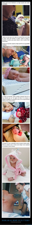 bebé,hablar,padre,útero