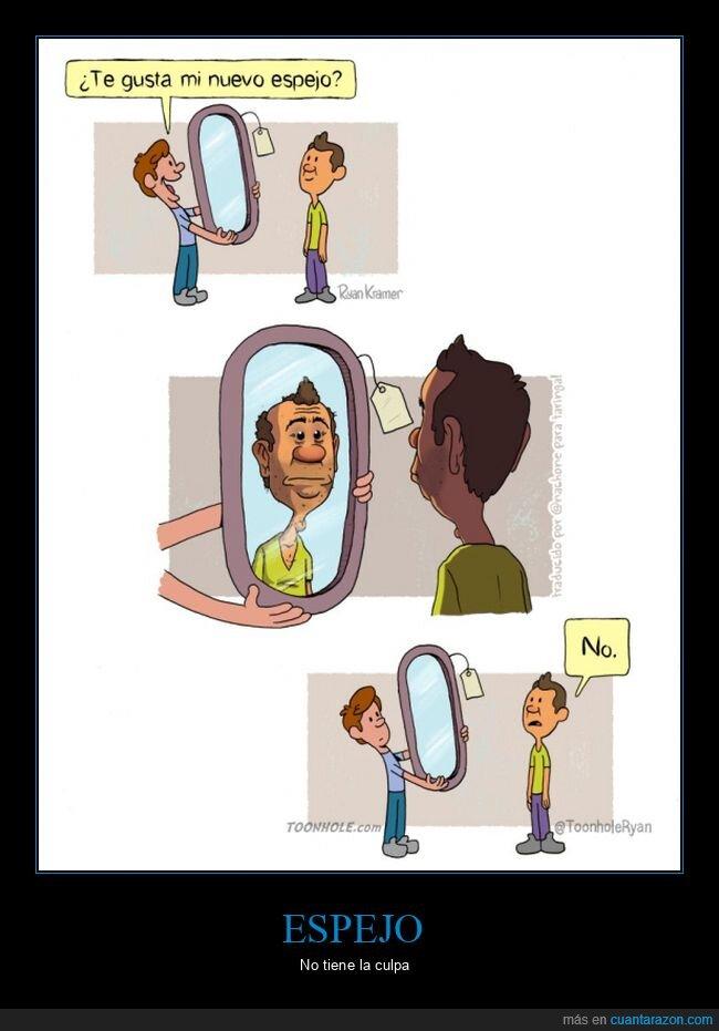 espejo,feo,reflejo