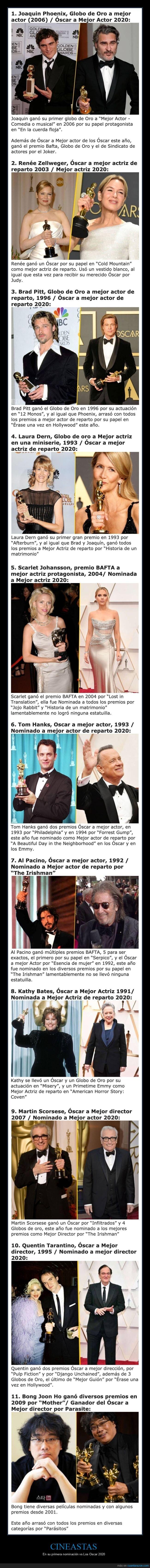 ahora,antes,cineastas,nominaciones,oscars,premios