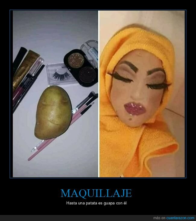 maquillaje,patata,wtf