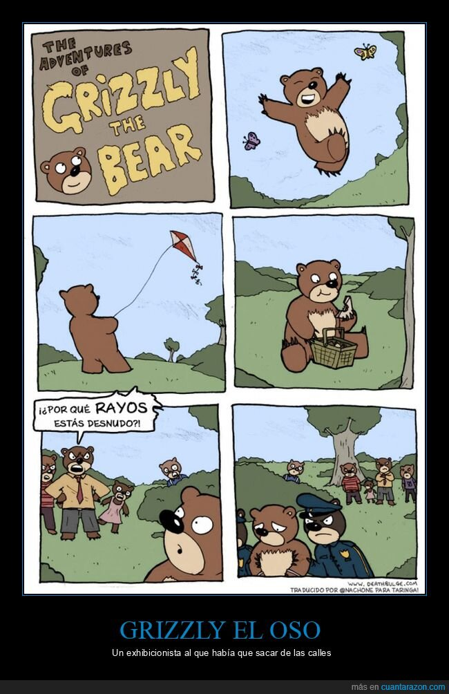 desnudo,exhibicionista,oso