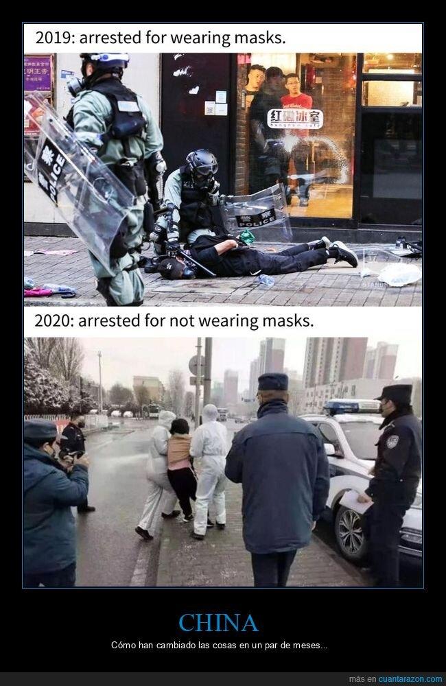2019,2020,arrestados,máscaras,mascarillas