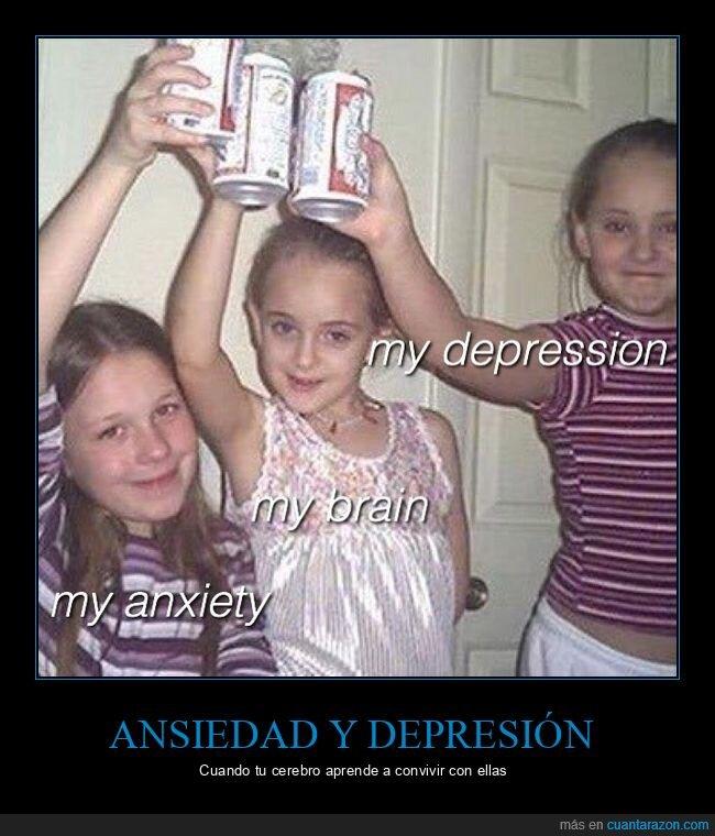 ansiedad,cerebro,cerveza,depresión,niña,niñas,wtf