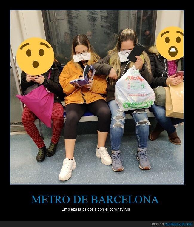 barcelona,coronavirus,metro