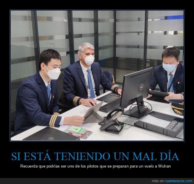 coronavirus,mascarillas,pilotos,wuhan