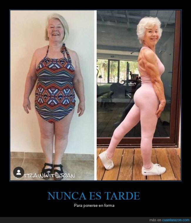 abuela,antes,después,en forma