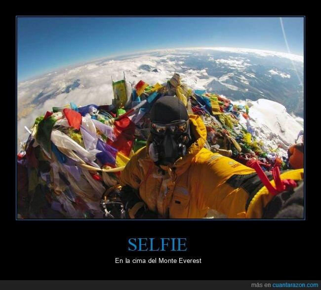 cima,everest,selfie