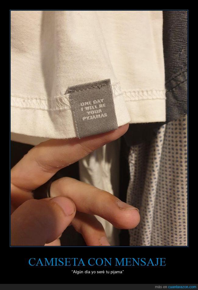 camiseta,etiqueta,pijama