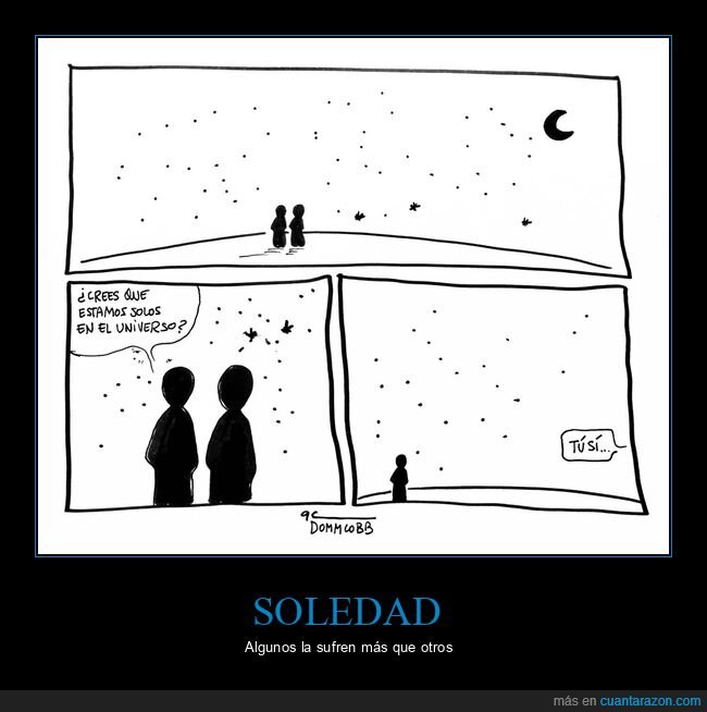soledad,solos,universo