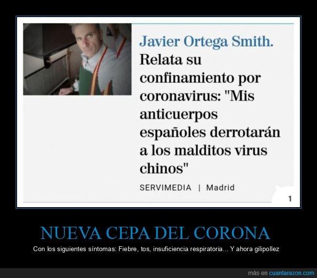 anticuerpos españoles,coronavirus,ortega smith,políticos