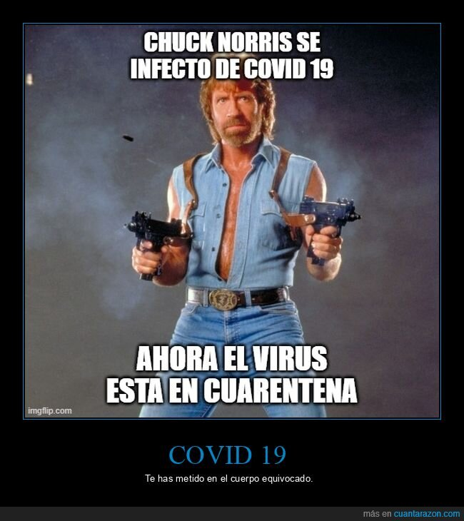 chuck norris,coronavirus,cuarentena