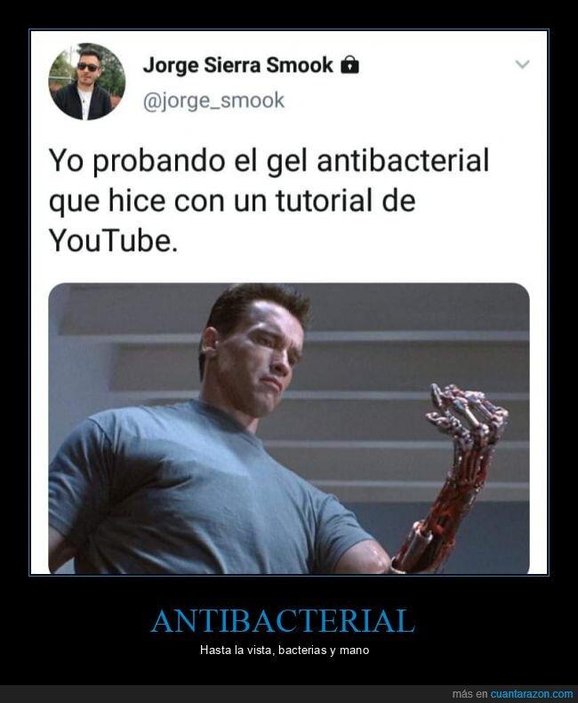 antibacterial,casero,terminator,tutorial,youtube