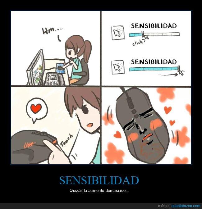 ratón,sensibilidad