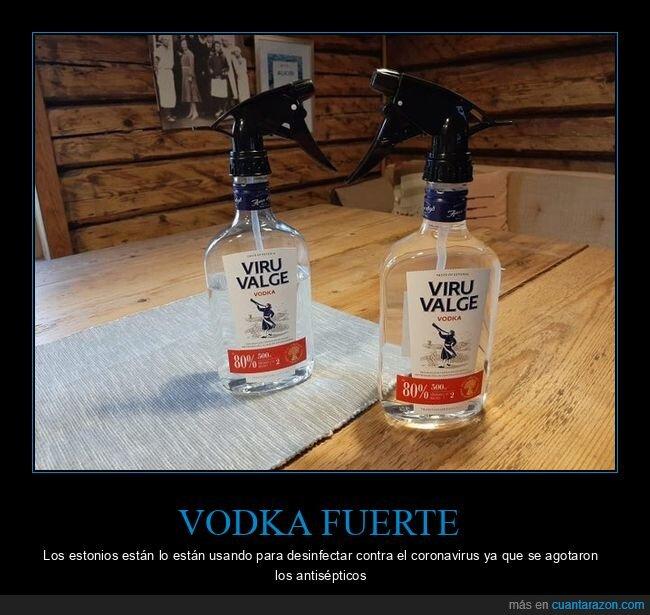 coronavirus,desinfectar,estonios,vodka