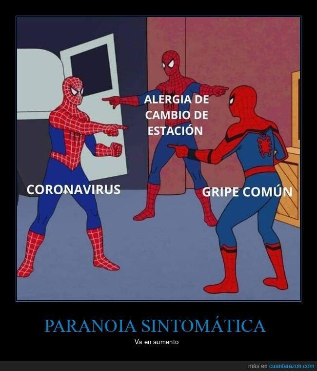 alergia,coronavirus,gripe,spiderman