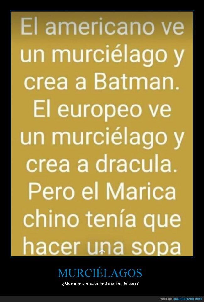 americano,batman,chino,coronavirus,drácula,europeo,murciélago,sopa,sopa de murciélago
