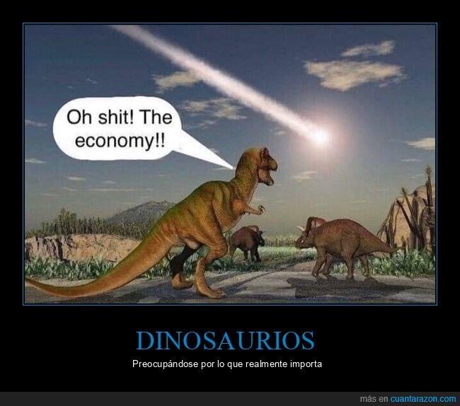 coronavirus,dinosaurios,economía,meteorito
