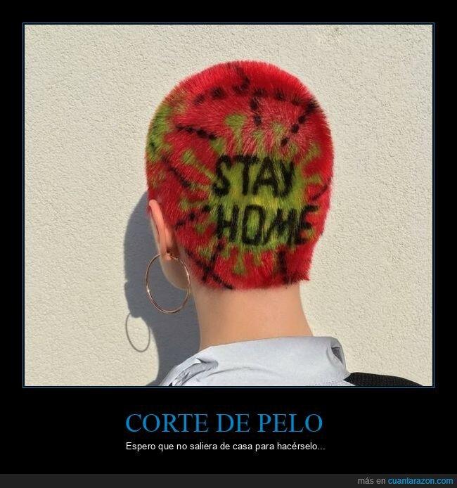 coronavirus,corte de pelo,quedarse en casa