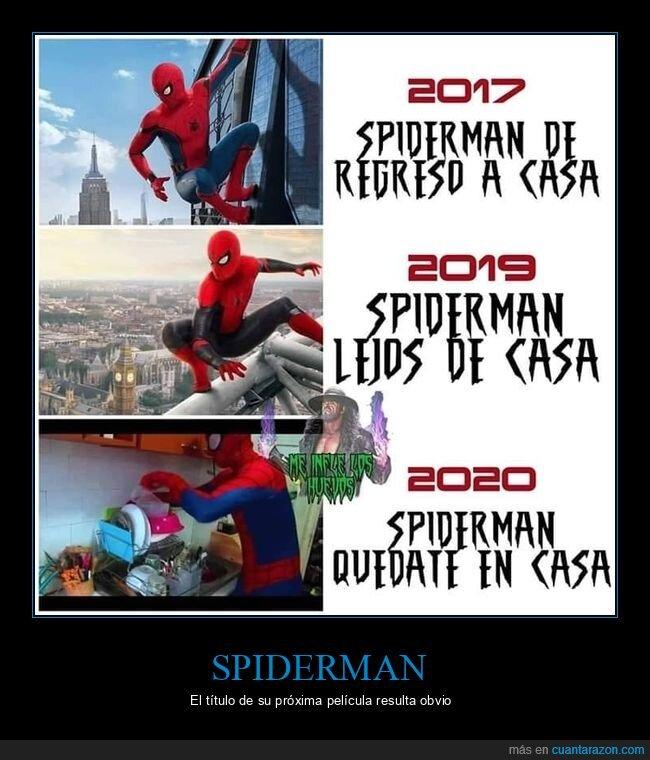 coronavirus,cuarentena,quedarse en casa,spiderman