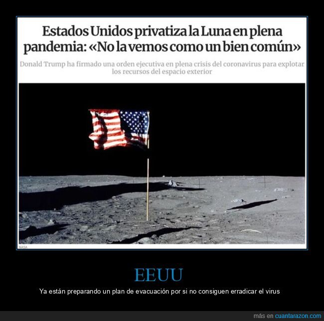donald trump,eeuu,luna,políticos,privatizar,wtf